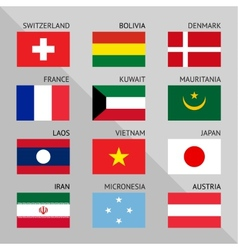 Flags of world flat set number 05 vector
