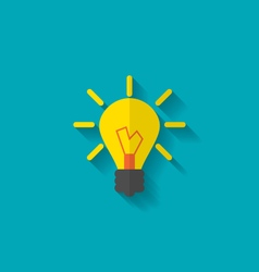Flat Icon of Lamp vector image