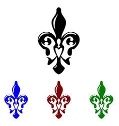 Fleur de lis symbol French lily icon vector image