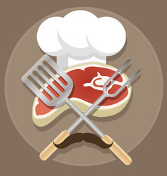 Grill and barbecue cartoon vector