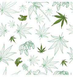Hemp pattern vector