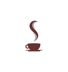 hot coffee abstract letter s logo icon vector image
