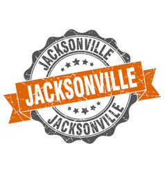 Jacksonville round ribbon seal vector
