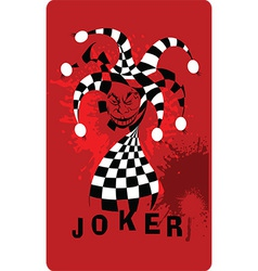 Joker cartoon vector image