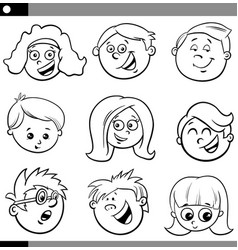 kids or teens characters set vector image