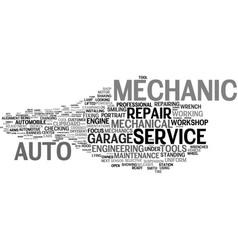 Mechanic word cloud concept vector