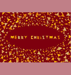 merry christmas colorful cover festive frame with vector image