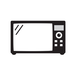 Microwave icon isolated on white background vector