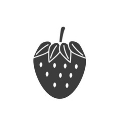 monochrome isolated strawberry icon on white vector image