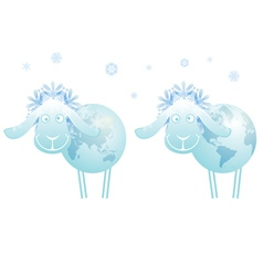 New Year sheep 2015 vector