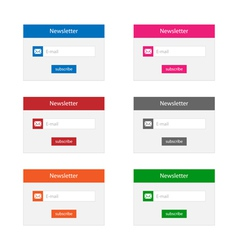 Newsletter forms vector