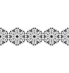 Ornate decorative snowflakes on a white background vector