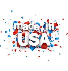 Paper USA confetti sign vector