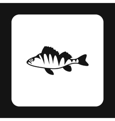 Perch icon simple style vector image