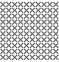 pixel style seamless pattern white black vector image