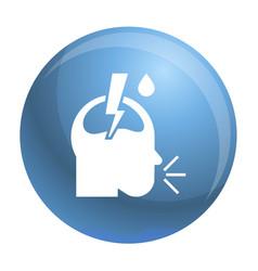 pneumonia headache icon simple style vector image