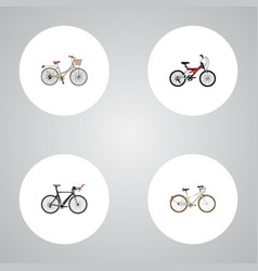 realistic brand competition bicycle adolescent vector image