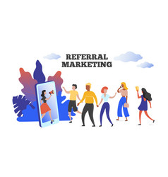 Referral marketing communication influence vector
