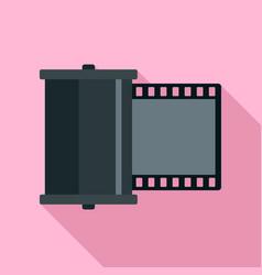 retro camera film icon flat style vector image