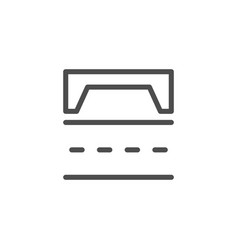 Road scheme line icon vector