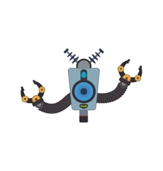 Robot cartoon technology android icon vector