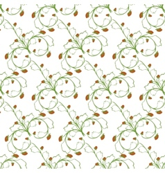 Sample pattern of white background rhythmic green vector image