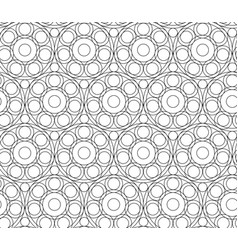 seamless abstract pattern background black white vector image