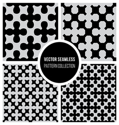 Seamless BW Pattern Cross Collection vector