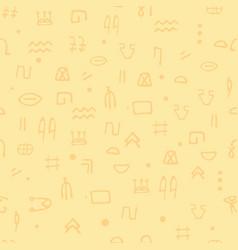 Seamless pattern egyptian hieroglyphs ethnicity vector