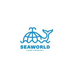 seaworld logo vector image