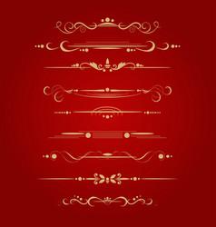 Set decorative delimiters vector