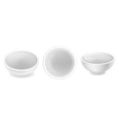 Set empty sauce bowls vector