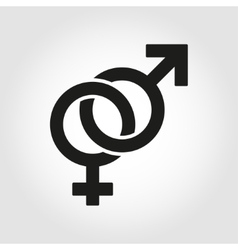 sex symbol icon set vector image