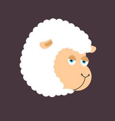 Sheep farm isolated animal ewe on white background vector