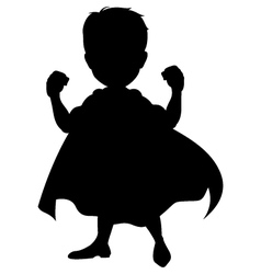 Silhouette of a superhero vector image