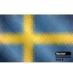 Swedish flag made of geometric shapes vector image