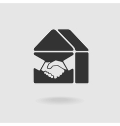 Symbol Handshake and Real Estate vector image