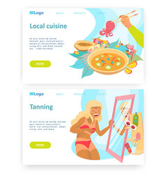 travel concept woman with sunburn local vector image