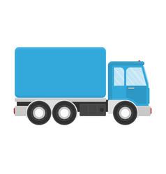 Truck for transportation cargo vector
