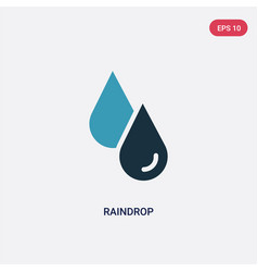 Two color raindrop icon from nature concept vector