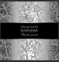 Victorian background with antique luxury black and vector