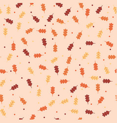 vintage autumn fall leaves pattern background vector image