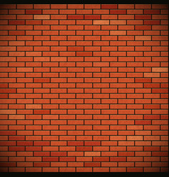 Wall of red brick vector