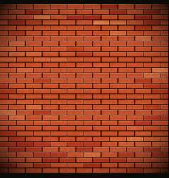 Wall red brick vector
