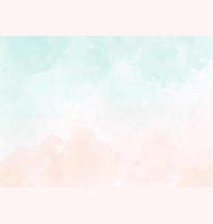 Watercolor light green and old rose peach pink vector