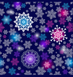 winter seamless christmas dark blue pattern vector image