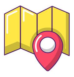 world travel map icon cartoon style vector image