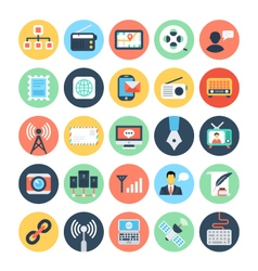 Communication Flat Icons 2 vector image