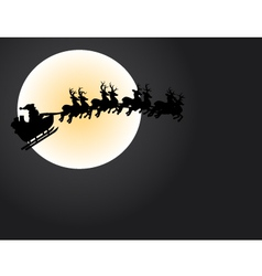 santa and the moon vector image vector image