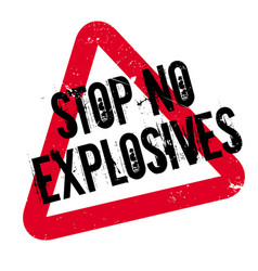 stop no explosives rubber stamp vector image vector image